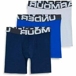 Under Armour 3-pack Charged Cotton Stretch 6-inch Boxerjock
