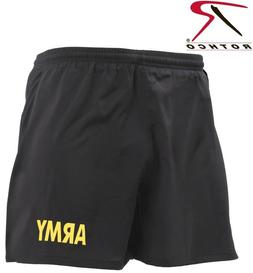 Black & Gold Army PT Shorts APFU Physical Training Work Out