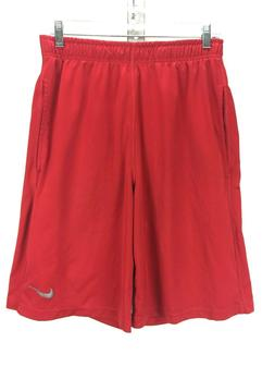 Nike Dri Fit  Men's Red Running Athletic Shorts With Pocke