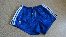 ADIDAS GLANZ NYLON VINTAGE SHORTS MADE IN WEST GERMANY BLUE