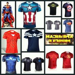 Heroes Costume T-shirt Short Sleeve Cycling Running Tops Jer