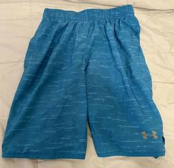 Men's Under Armour baby blue running shorts size small loose