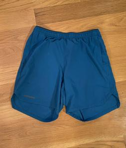 """Patagonia Men's Nine Trails Unlined Shorts 6"""" Size S, Blue"""