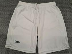 Reebok Play Dry Shorts White Size Large with Pockets
