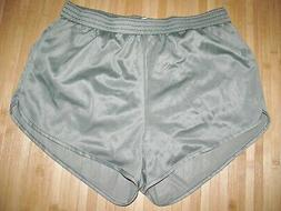 SOFFE Running Shorts LARGE Silky Nylon Military OLIVE GREEN