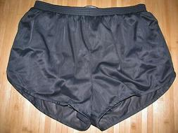 SOFFE Running Shorts XL Silky Nylon BLACK with Matching LINE